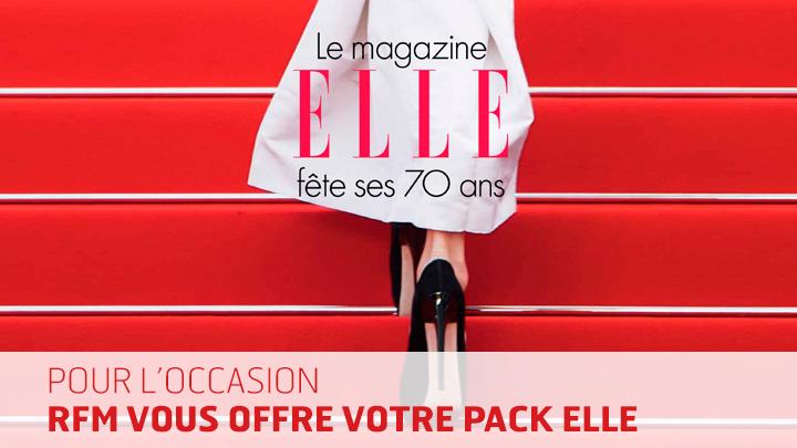 rfm.fr vous offre votre abonnement au magazine elle et votre livre